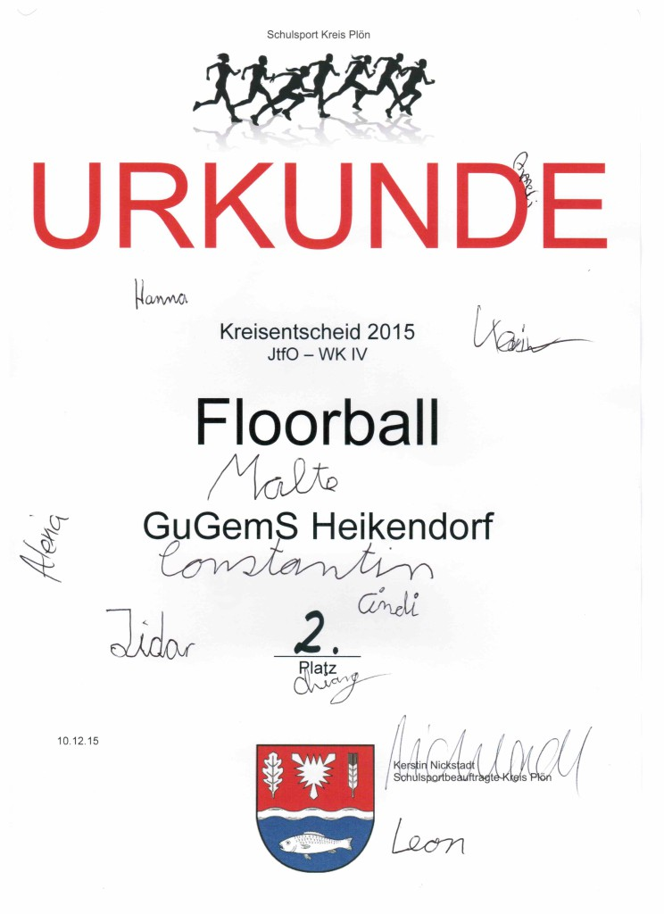 Floorball  WK 4 Urkunde 2015 001